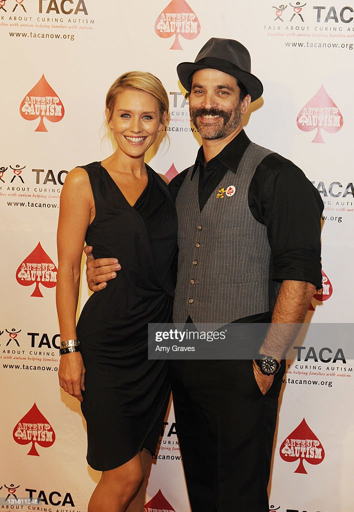 Nicky Whelan and Jonathan Schaech attend the Ante-Up for Autism Event at St. Regis Monarch Beach Resort on November 5, 2011 in Dana Point, California.