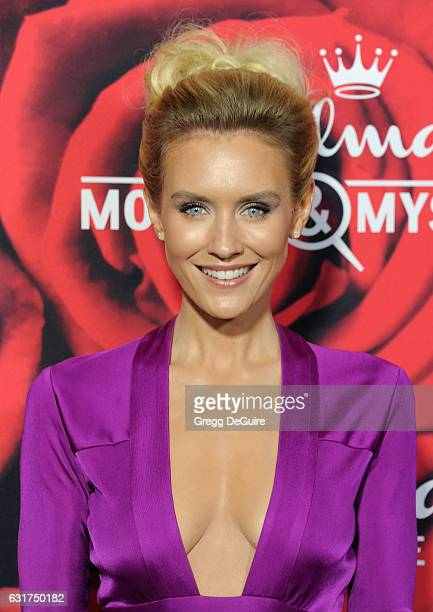 Nicky Whelan arrives at Hallmark Channel And Hallmark Movies And Mysteries Winter 2017 TCA Press Tour at The Tournament House on January 14 2017 in...