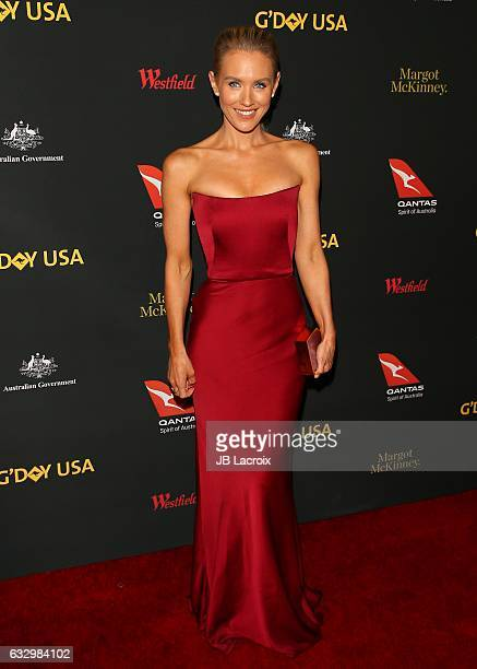 Nicky Whelan attends the 2017 G'Day Black Tie Gala at Governors Ballroom At Hollywood And Highland on January 28 2017 in Hollywood California