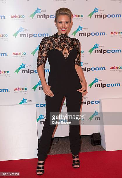 Nicky Whelan attends the opening red carpet party MIPCOM 2014 at Hotel Martinez on October 13 2014 in Cannes France