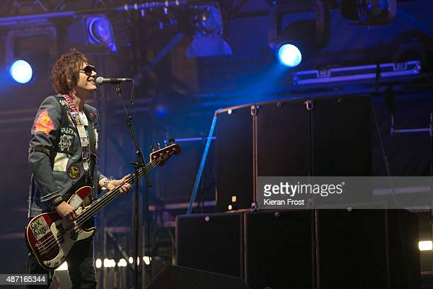 Nicky Wire of The Manic Street Preachers performs at Electric Picnic on September 6 2015 in Stradbally Ireland
