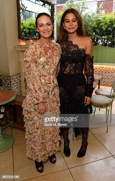 Nicky Zimmermann and Christine Centenera attend an intimate dinner hosted by Nicky Zimmermann and Margot Robbie to celebrate the opening of the...