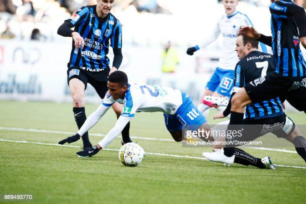 Niclas Eliasson during the Allsvenskan match between IFK Norrkoping and IF Sirius FK at Ostgotaporten on April 17 2017 in Norrkoping Sweden