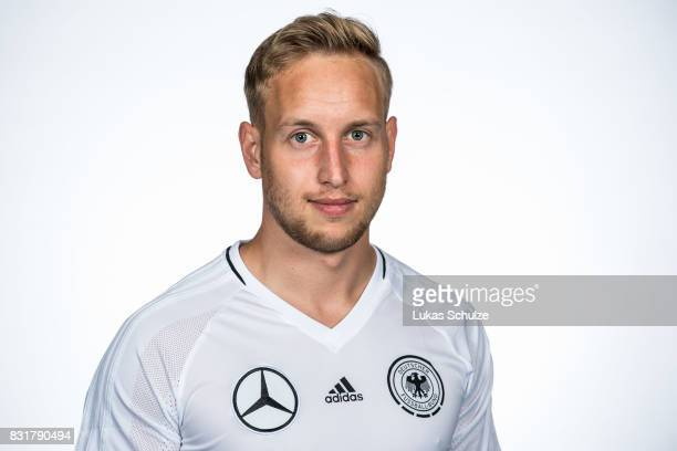 Niclas Hoffmans poses at Sport School Wedau on August 11 2017 in Duisburg Germany