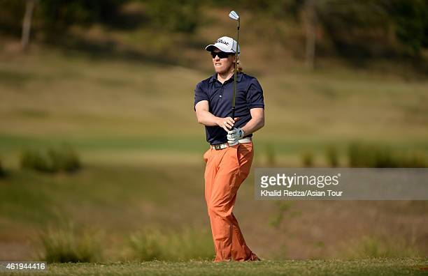 Niclas Johansson of Sweden in action during round two of the Asian Tour Qualifying School presented by Sports Authority of Thailand at the...