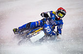 Niclas Svensonn in action during the Ice Speedway World Championship Final on March 12 2016 in Assen Netherlands