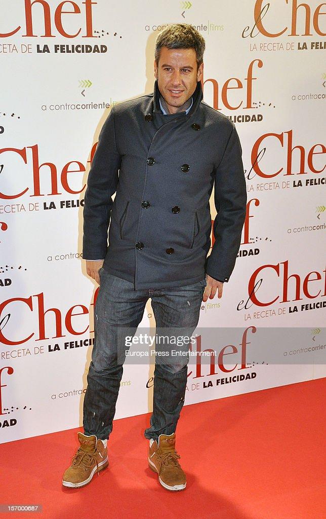 Nico Abad attends 'El Chef, La Receta de la Felicidad' premiere on November 26, 2012 in Madrid, Spain.