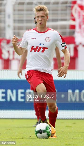 Nico Brandenburger of Köln during the 3Liga match between FC Carl Zeiss Jena and SC Fortuna Köln at ErnstAbbeSportfeld on July 29 2017 in Jena Germany
