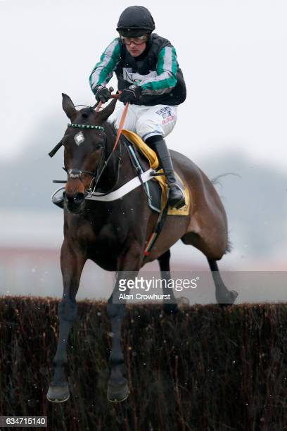 Nico de Boinville riding Altior clear the last to win The Betfair Exchange Steeple Chase at Newbury Racecourse on February 11 2017 in Newbury England