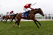Nico de Boinville riding Coneygree clear the last to win The Betfred Cheltenham Gold Cup during Gold Cup day at the Cheltenham Festival at Cheltenham...