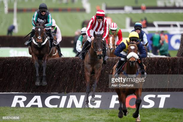 Nico de Boinville ridng Altior on their way to winning The Racing Post Arkle Challenge Trophy Novices Steeple Chase at Cheltenham racecourse on day...