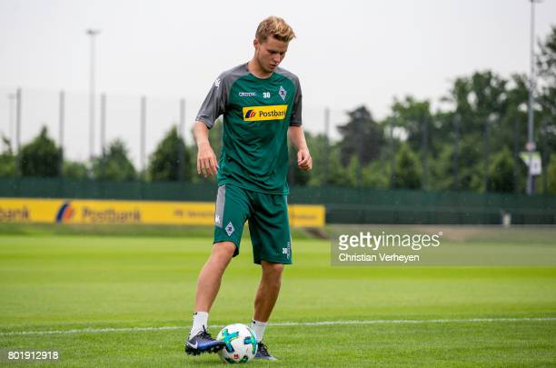 Nico Elvedi during a training session of Borussia Moenchengladbach at BorussiaPark on June 27 2017 in Moenchengladbach Germany