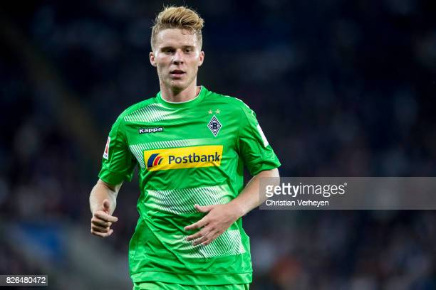 Nico Elvedi of Borussia Moenchengladbach during a friendly match between Leicester City and Borussia Moenchengladbach at King Power Stadium on August...