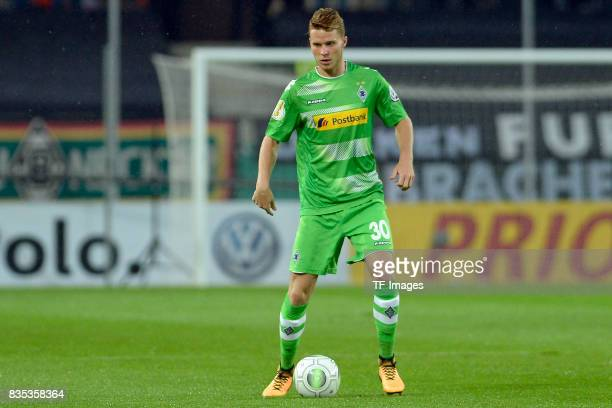 Nico Elvedi of Gladbach in action during the DFB Cup match between Rot Weiss Essen and Borussia Moenchengladbach at Stadion Essen on August 11 2017...