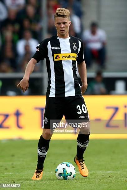 Nico Elvedi of Mnchengladbach runs with the ball during the Bundesliga match between Borussia Moenchengladbach and 1 FC Koeln at BorussiaPark on...