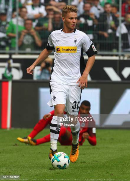 Nico Elvedi of Moenchengladbach controls the ball during the Bundesliga match between Borussia Moenchengladbach and Eintracht Frankfurt at...