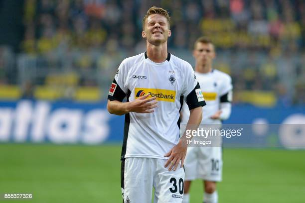 Nico Elvedi of Moenchengladbach looks on during the Bundesliga match between Borussia Dortmund and Borussia Moenchengladbach at Signal Iduna Park on...