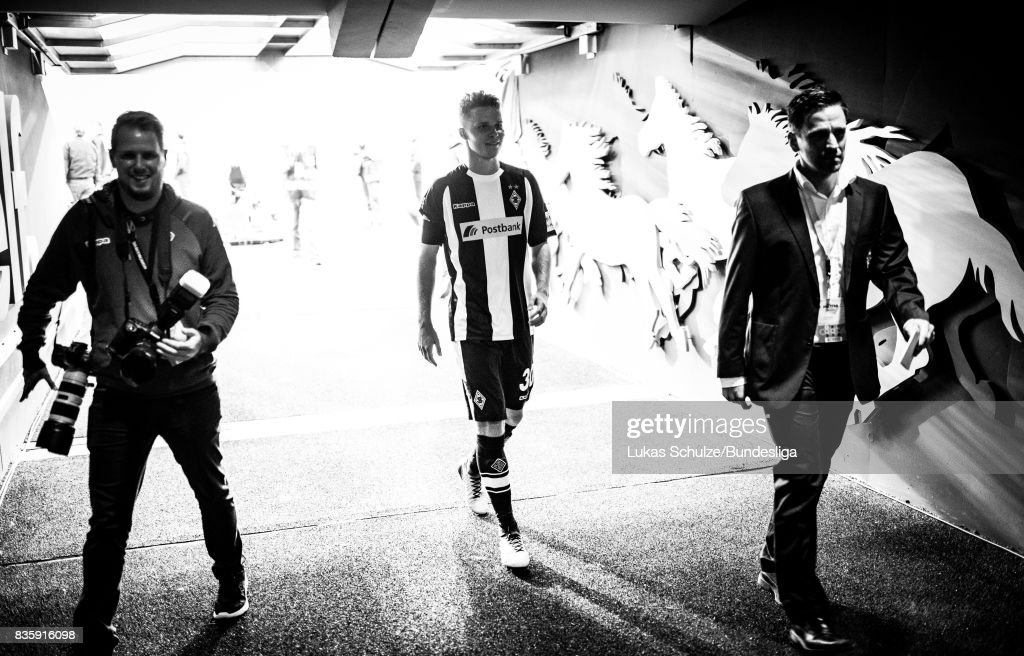 Nico Elvedi of Moenchengladbach, scorer of the goal, leaves the pitch trough the tunnel after winning the Bundesliga match between Borussia Moenchengladbach and 1. FC Koeln at Borussia-Park on August 20, 2017 in Moenchengladbach, Germany.
