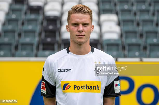 Nico Elvedi pose during the team presentation of Borussia Moenchengladbach at BorussiaPark on July 28 2017 in Moenchengladbach Germany