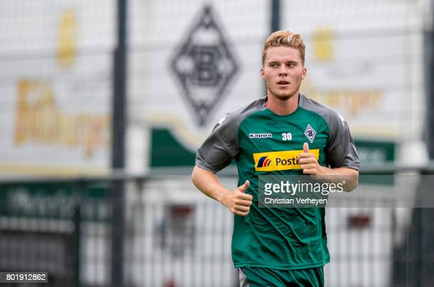 Nico Elvedi runs during a training session of Borussia Moenchengladbach at BorussiaPark on June 27 2017 in Moenchengladbach Germany