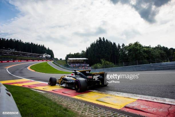 Nico from Germany of team Renault Sport F1 team during the Formula One Belgian Grand Prix at Circuit de SpaFrancorchamps on August 27 2017 in Spa...