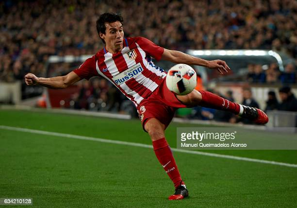 Nico Gaitan of Atletico de Madrid in action during the Copa del Rey semifinal second leg match between FC Barcelona and Atletico de Madrid at Camp...