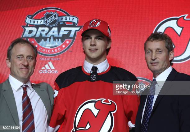 Nico Hischier is drafted by the New Jersey Devils with the first pick of the NHL Draft at the United Center in Chicago on Friday June 23 2017