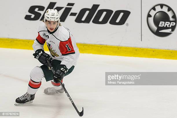 Nico Hischier of the Halifax Mooseheads skates during the QMJHL game against the BlainvilleBoisbriand Armada at the Centre d'Excellence Sports...
