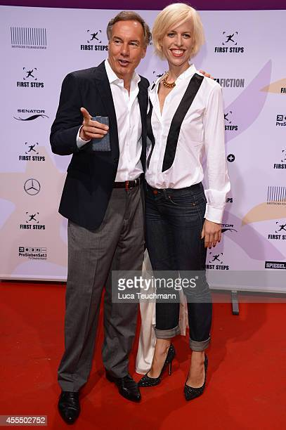 Nico Hofmann and Katja Eichinger attend the First Steps Award 2014 at Stage Theater on September 15 2014 in Berlin Germany