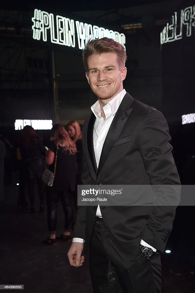 Nico Hulkenberg attends the Philipp Plein show during the Milan Fashion Week Autumn/Winter 2015 on February 25, 2015 in Milan, Italy.