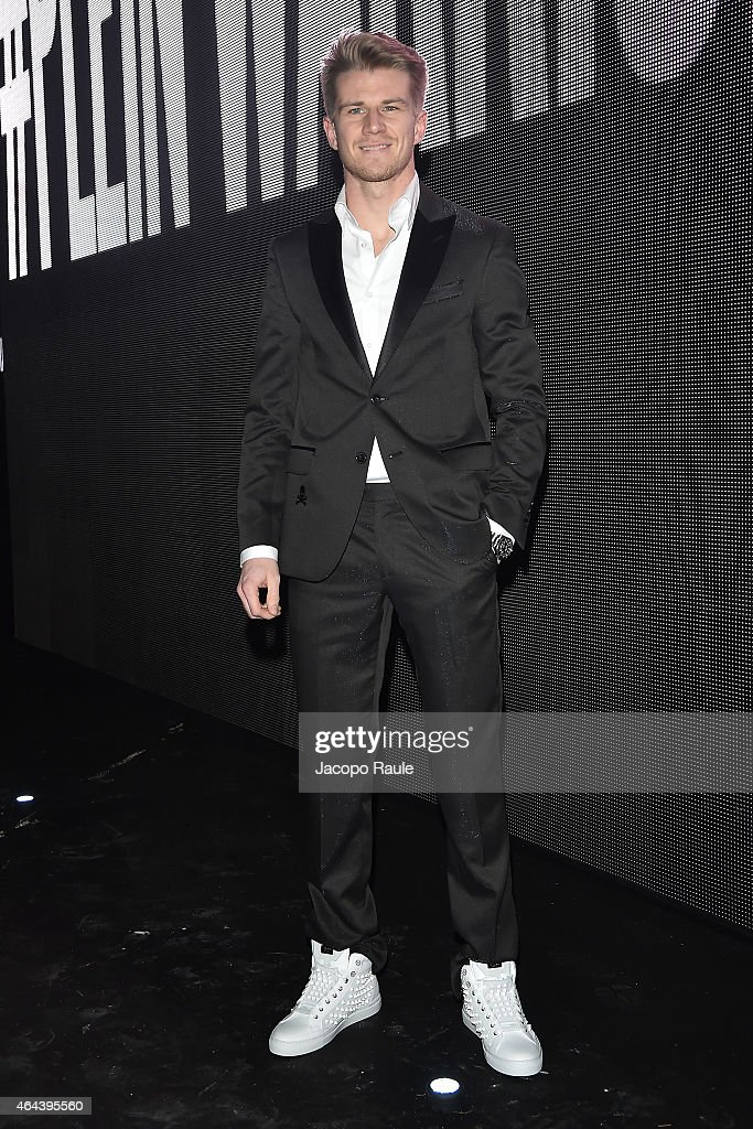 <a gi-track='captionPersonalityLinkClicked' href=/galleries/search?phrase=Nico+Hulkenberg&family=editorial&specificpeople=2566799 ng-click='$event.stopPropagation()'>Nico Hulkenberg</a> attends the Philipp Plein show during the Milan Fashion Week Autumn/Winter 2015 on February 25, 2015 in Milan, Italy.