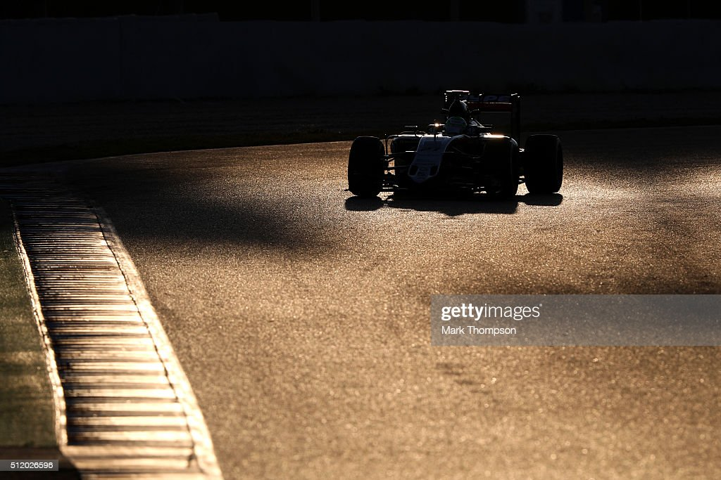 Nico Hulkenberg of Germany and Force India drives during day three of F1 winter testing at Circuit de Catalunya on February 24, 2016 in Montmelo, Spain.