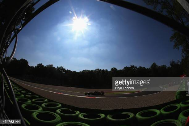 Nico Hulkenberg of Germany and Force India drives during Practice ahead of the F1 Grand Prix of Italy at Autodromo di Monza on September 6 2014 in...