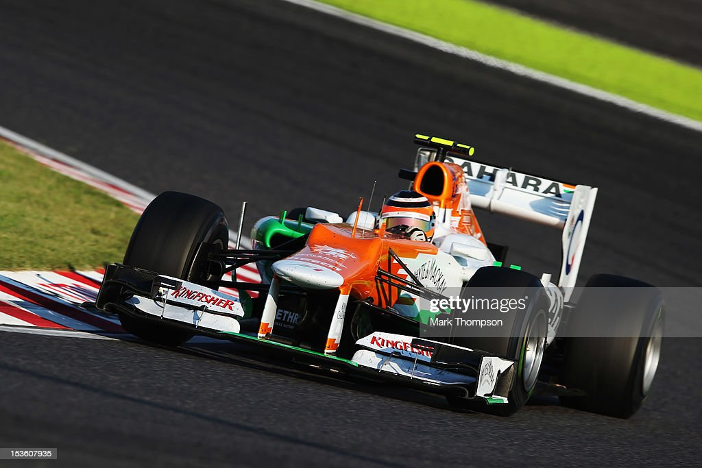 Nico Hulkenberg of Germany and Force India drives during the Japanese Formula One Grand Prix at the Suzuka Circuit on October 7, 2012 in Suzuka, Japan.