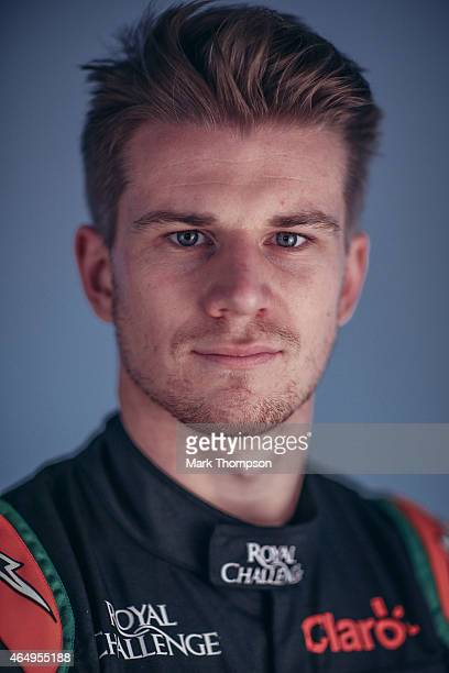 Nico Hulkenberg of Germany and Force India poses for a portrait during day three of Formula One Winter Testing at Circuit de Catalunya on February 21...