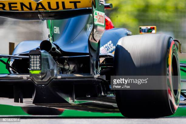 Nico Hulkenberg of Germany and Renault during the Azerbaijan Formula One Grand Prix at Baku City Circuit on June 25 2017 in Baku Azerbaijan