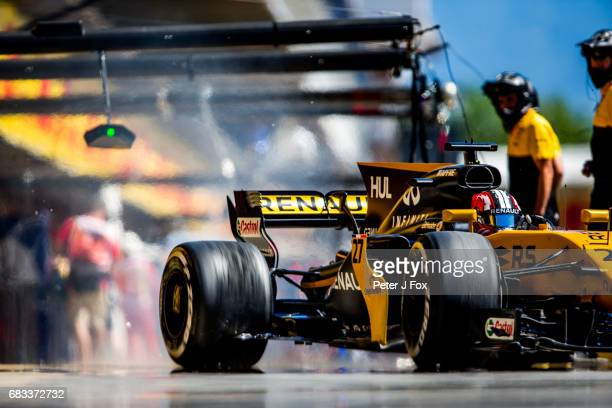 Nico Hulkenberg of Germany and Renault during the Spanish Formula One Grand Prix at Circuit de Catalunya on May 14 2017 in Montmelo Spain