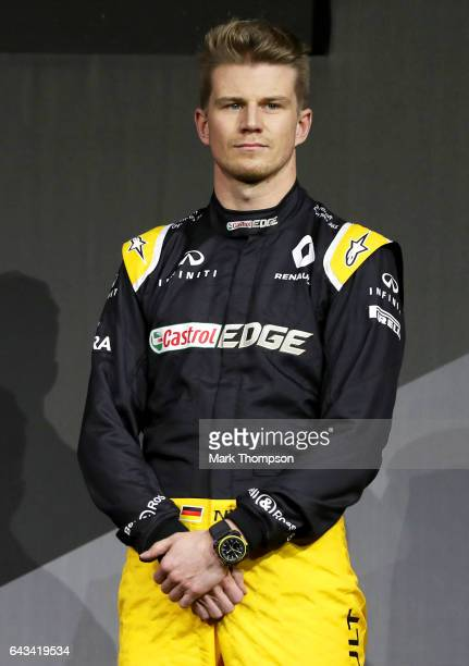 Nico Hulkenberg of Germany and Renault Sport attends the launch of the Renault Sport Formula One team's 2017 car the RS17 on February 21 2017 in...