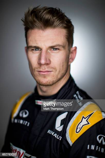 Nico Hulkenberg of Germany and Renault Sport F1 poses for a portrait during day two of Formula One winter testing at Circuit de Catalunya on March 8...