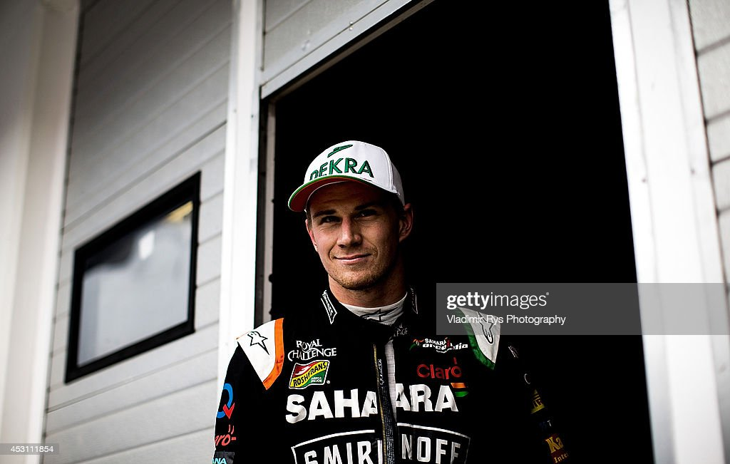 Nico Hulkenberg of Germany and Sahara Force India is seen ahead of the Hungarian Formula One Grand Prix at Hungaroring on July 27, 2014 in Budapest, Hungary.
