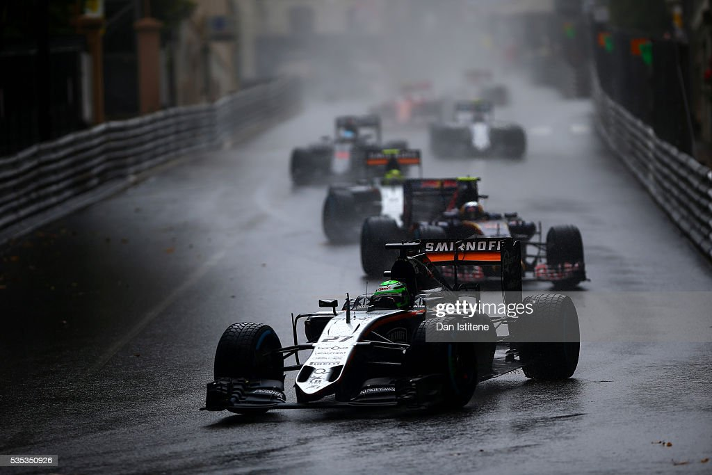 Nico Hulkenberg of Germany drives the 7 Sahara Force India F1 Team VJM09 Mercedes PU106C Hybrid turbo during the Monaco Formula One Grand Prix at Circuit de Monaco on May 29, 2016 in Monte-Carlo, Monaco.