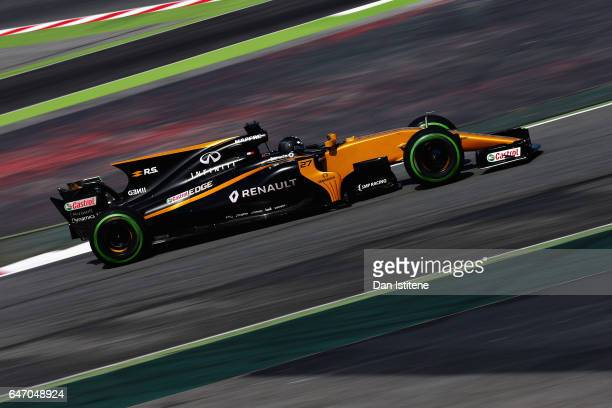 Nico Hulkenberg of Germany driving the Renault Sport Formula One Team Renault RS17 on track during day four of Formula One winter testing at Circuit...