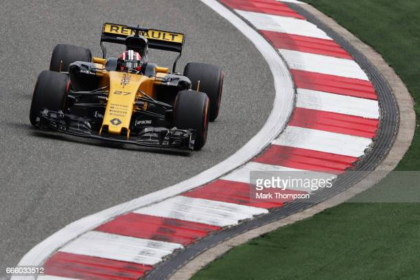 Nico Hulkenberg of Germany driving the Renault Sport Formula One Team Renault RS17 on track during final practice for the Formula One Grand Prix of...