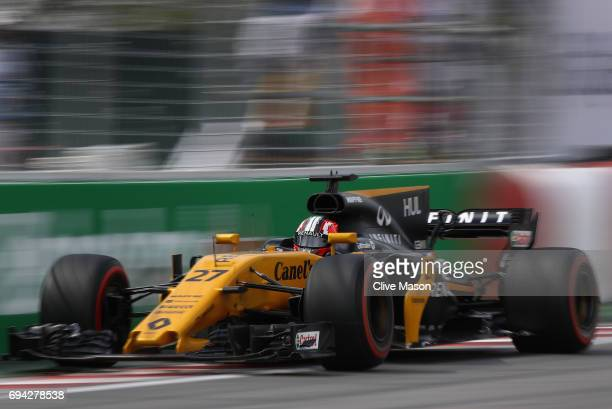 Nico Hulkenberg of Germany driving the Renault Sport Formula One Team Renault RS17 on track during practice for the Canadian Formula One Grand Prix...