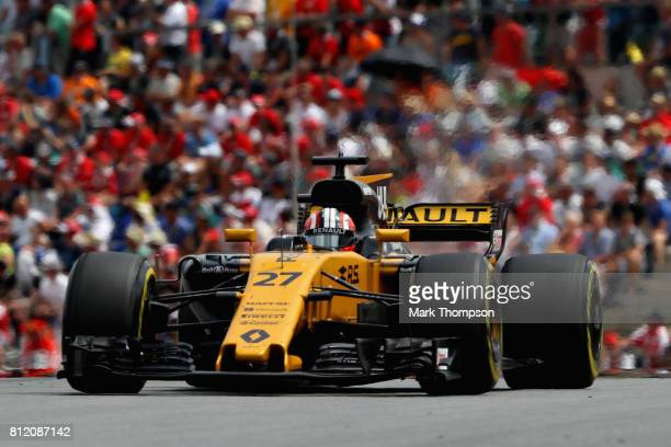 Nico Hulkenberg of Germany driving the Renault Sport Formula One Team Renault RS17 on track during the Formula One Grand Prix of Austria at Red Bull...