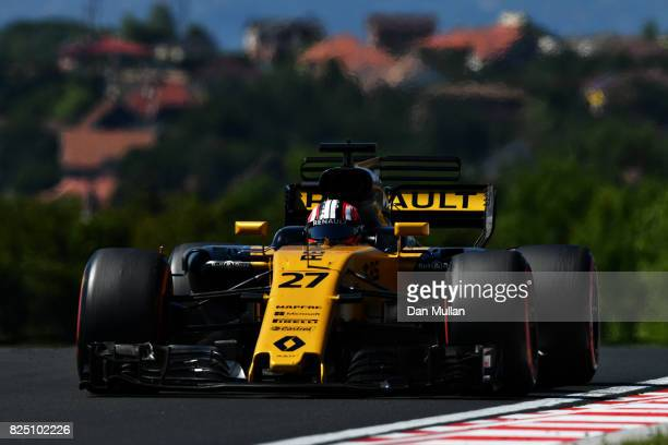 Nico Hulkenberg of Germany driving the Renault Sport Formula One Team Renault RS17 on track during the Formula One Grand Prix of Hungary at...