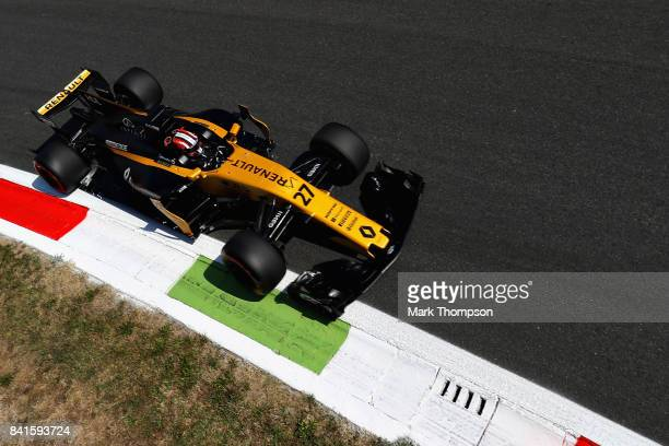 Nico Hulkenberg of Germany driving the Renault Sport Formula One Team Renault RS17 on track during practice for the Formula One Grand Prix of Italy...
