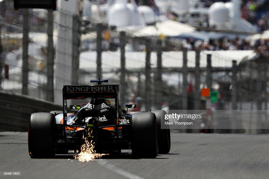<a gi-track='captionPersonalityLinkClicked' href=/galleries/search?phrase=Nico+Hulkenberg&family=editorial&specificpeople=2566799 ng-click='$event.stopPropagation()'>Nico Hulkenberg</a> of Germany driving the (27) Sahara Force India F1 Team VJM09 Mercedes PU106C Hybrid turbo on track during qualifying for the Monaco Formula One Grand Prix at Circuit de Monaco on May 28, 2016 in Monte-Carlo, Monaco.