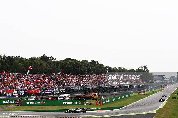 Nico Hulkenberg of Germany driving the Sahara Force India F1 Team VJM09 Mercedes PU106C Hybrid turbo on track during the Formula One Grand Prix of...