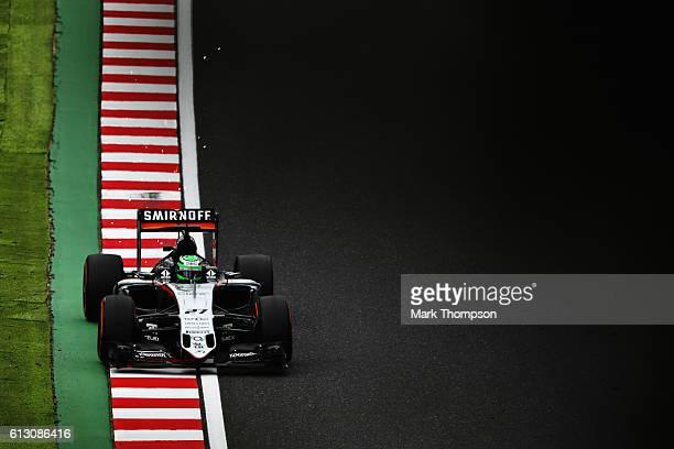 Nico Hulkenberg of Germany driving the Sahara Force India F1 Team VJM09 Mercedes PU106C Hybrid turbo on track during practice for the Formula One...